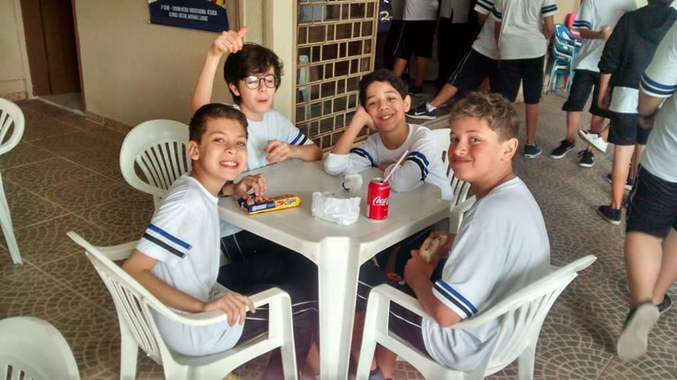 Momentos de alegria com alunos do 5º ano